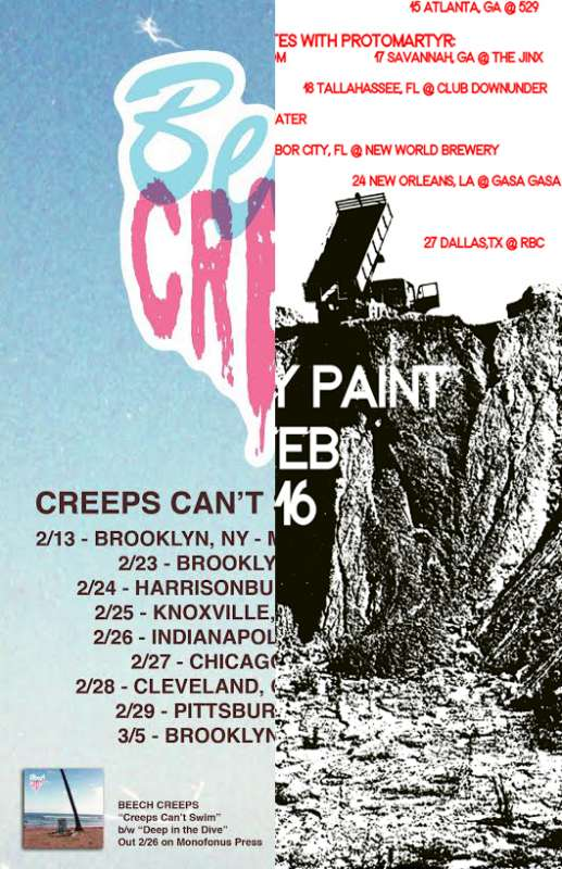 Creeps and Paint touring in Feb