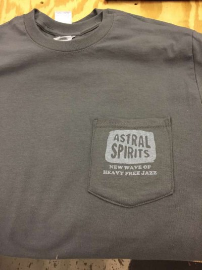 Astral Spirits Grey Pocket T